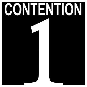 Contention 1