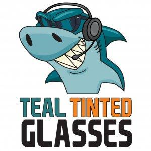 Teal Tinted Glasses