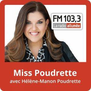 Miss Poudrette avec Hélène-Manon Poudrette du FM103,3